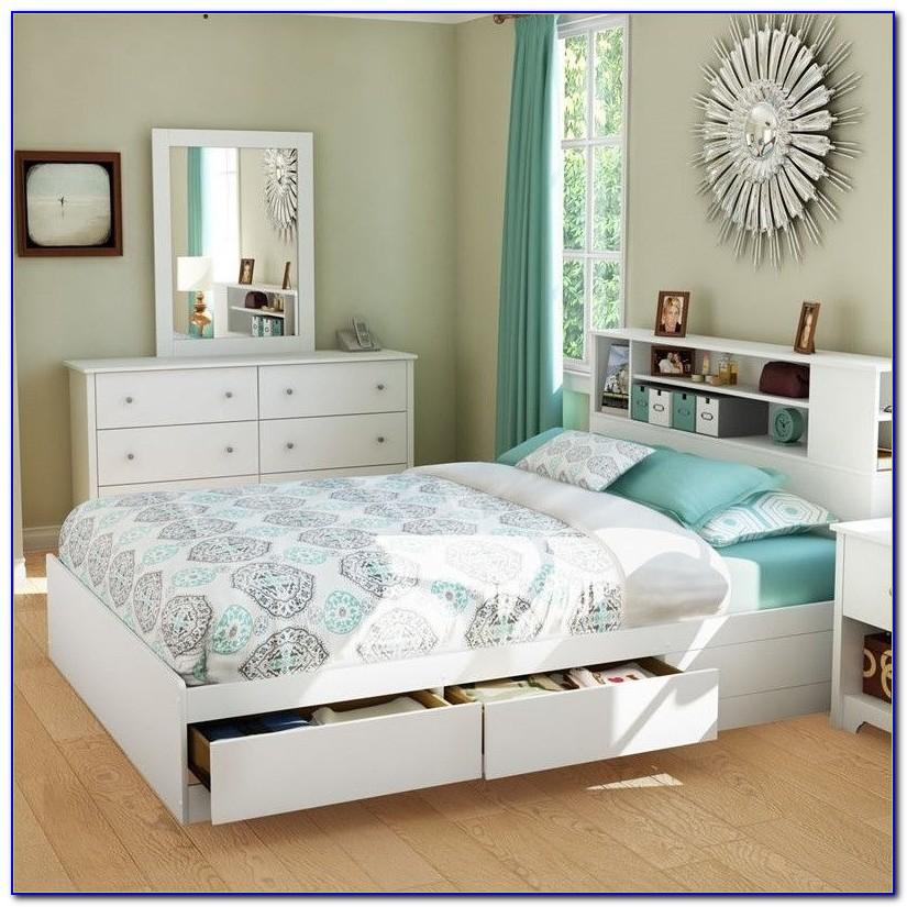Birch Platform Storage Bed Queen