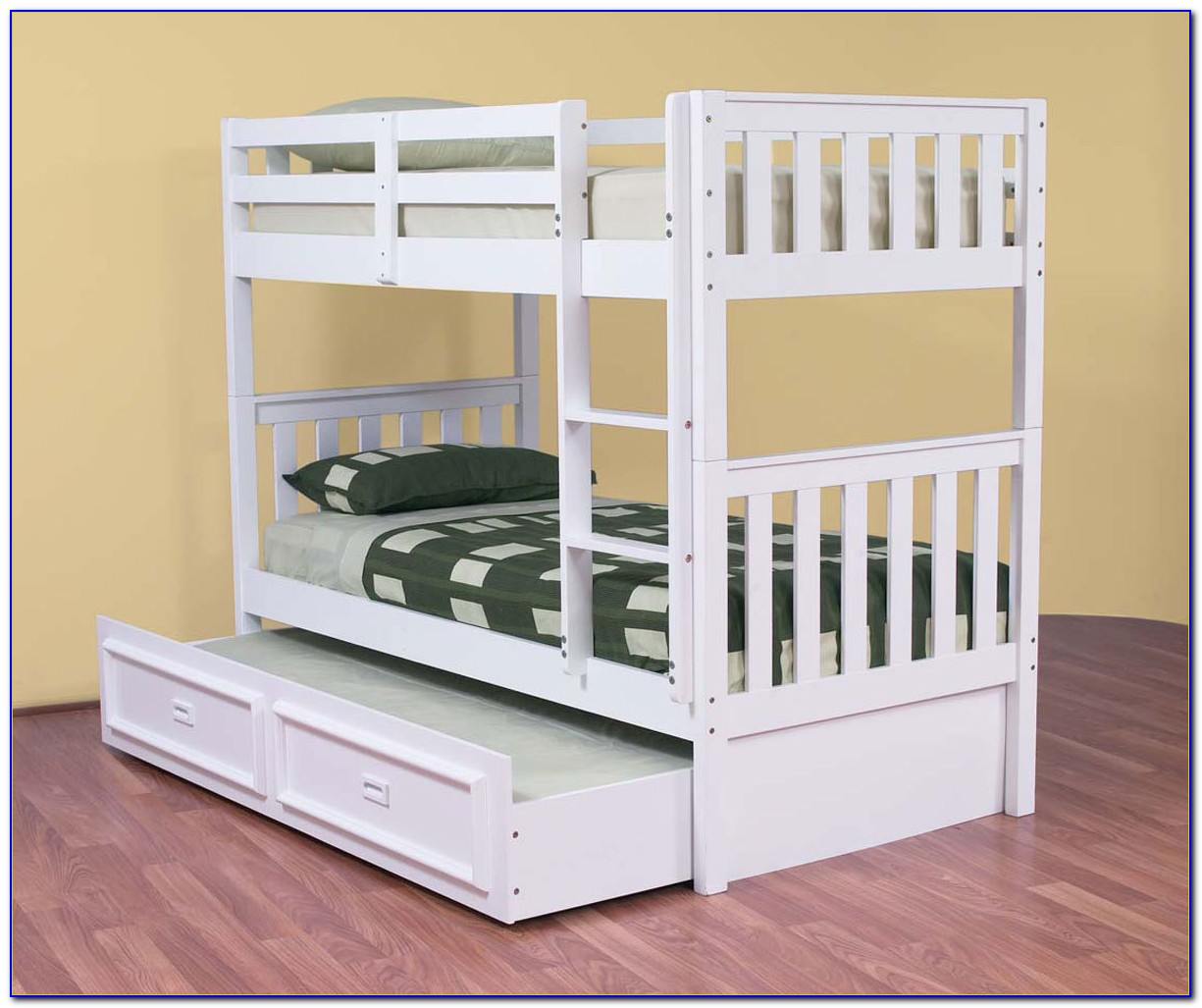 Bunk Bed Trundle Desk