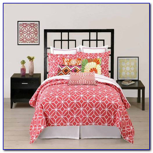 Coral And Turquoise Quilt