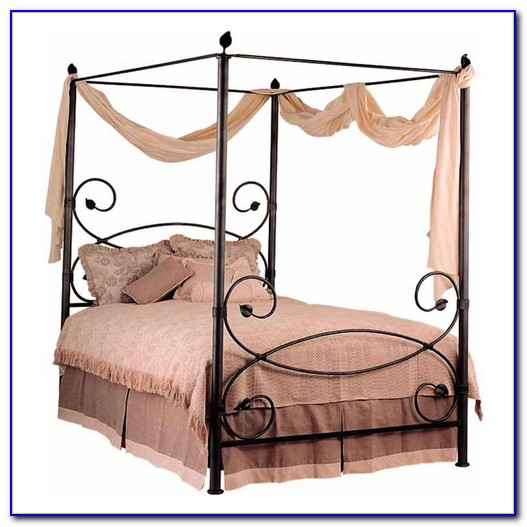 Iron Canopy Bed Full