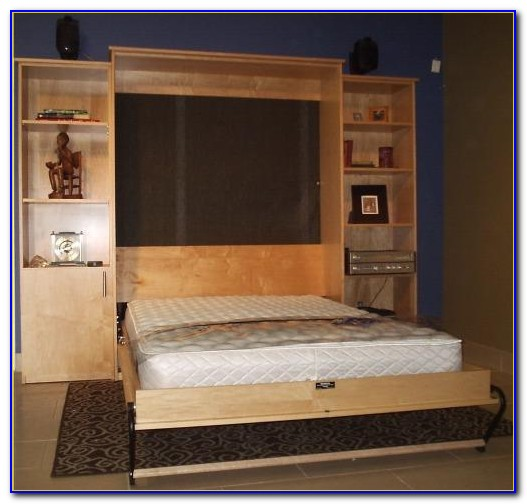 King Size Murphy Bed With Desk