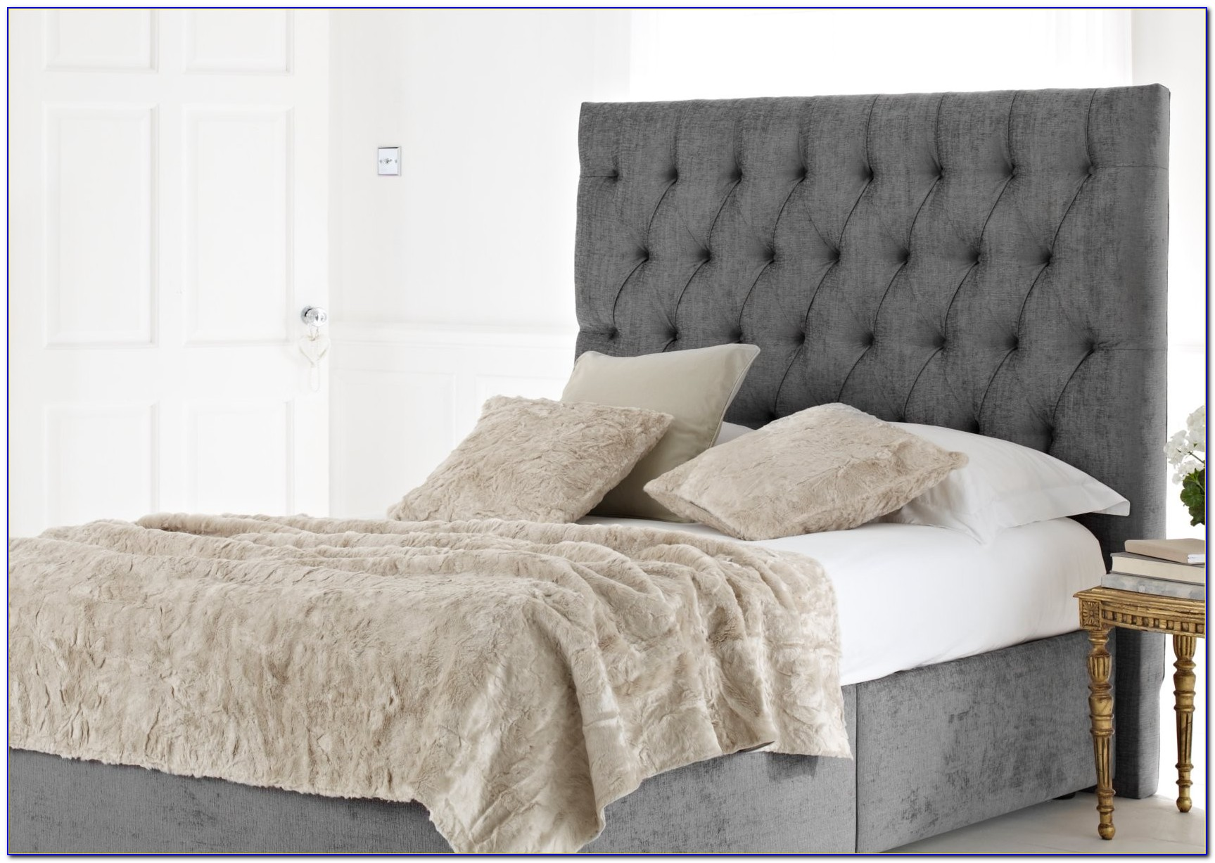 King Size Upholstered Bed Head