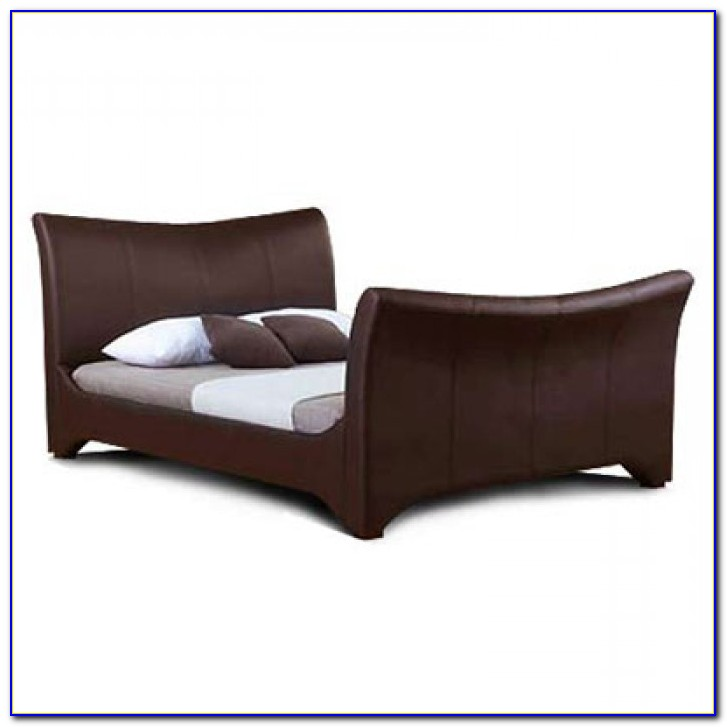 Leather Sleigh Bed King