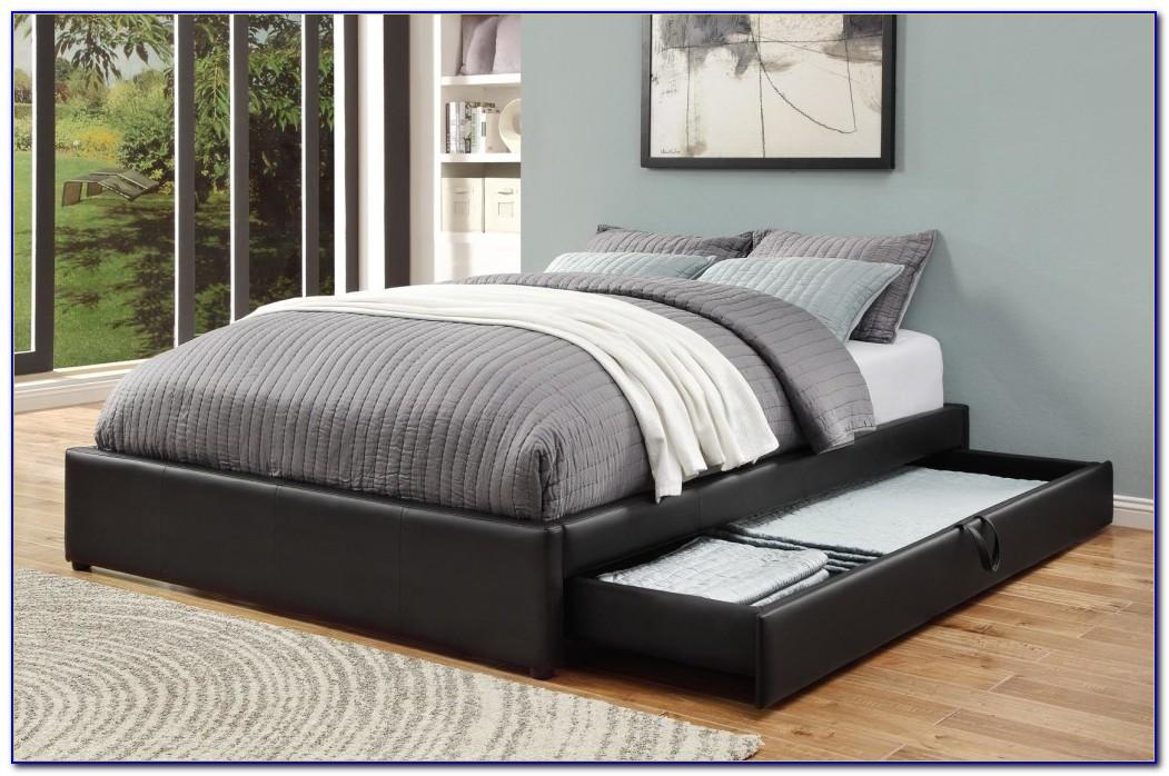 Pine Platform Storage Bed Queen