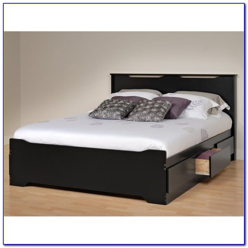 Platform Bed With Headboard King