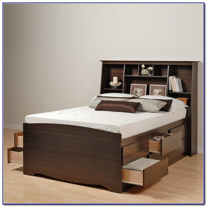 Platform Bed With Headboard Plans