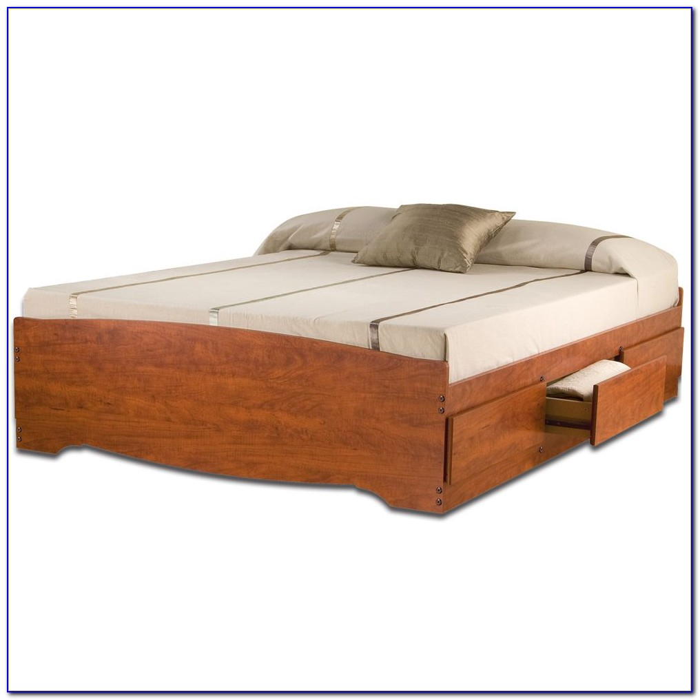 Queen Platform Bed With Drawers Plans