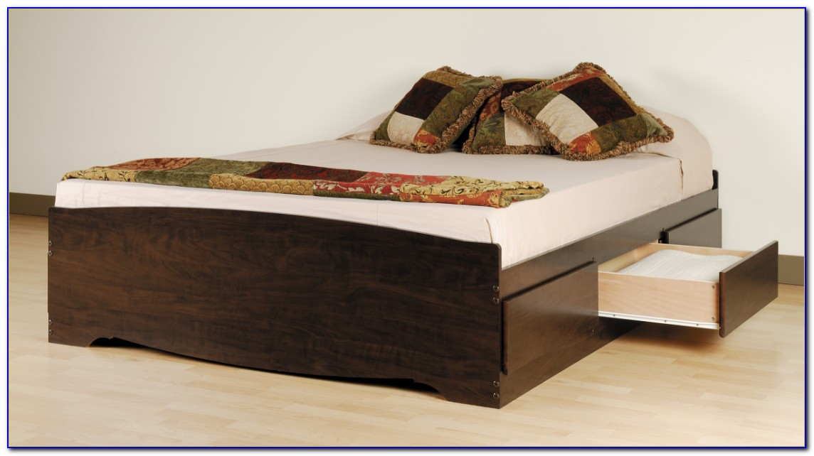 Queen Platform Bed With Storage Amazon