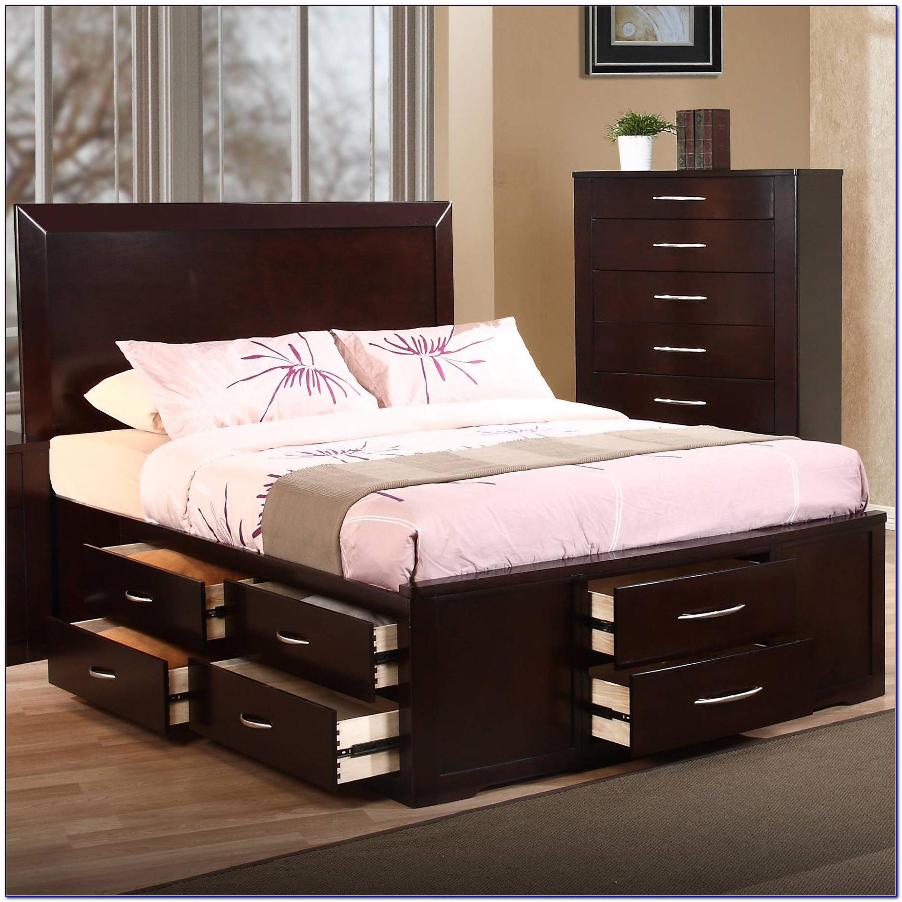 Queen Size Bed Frame With Storage Singapore