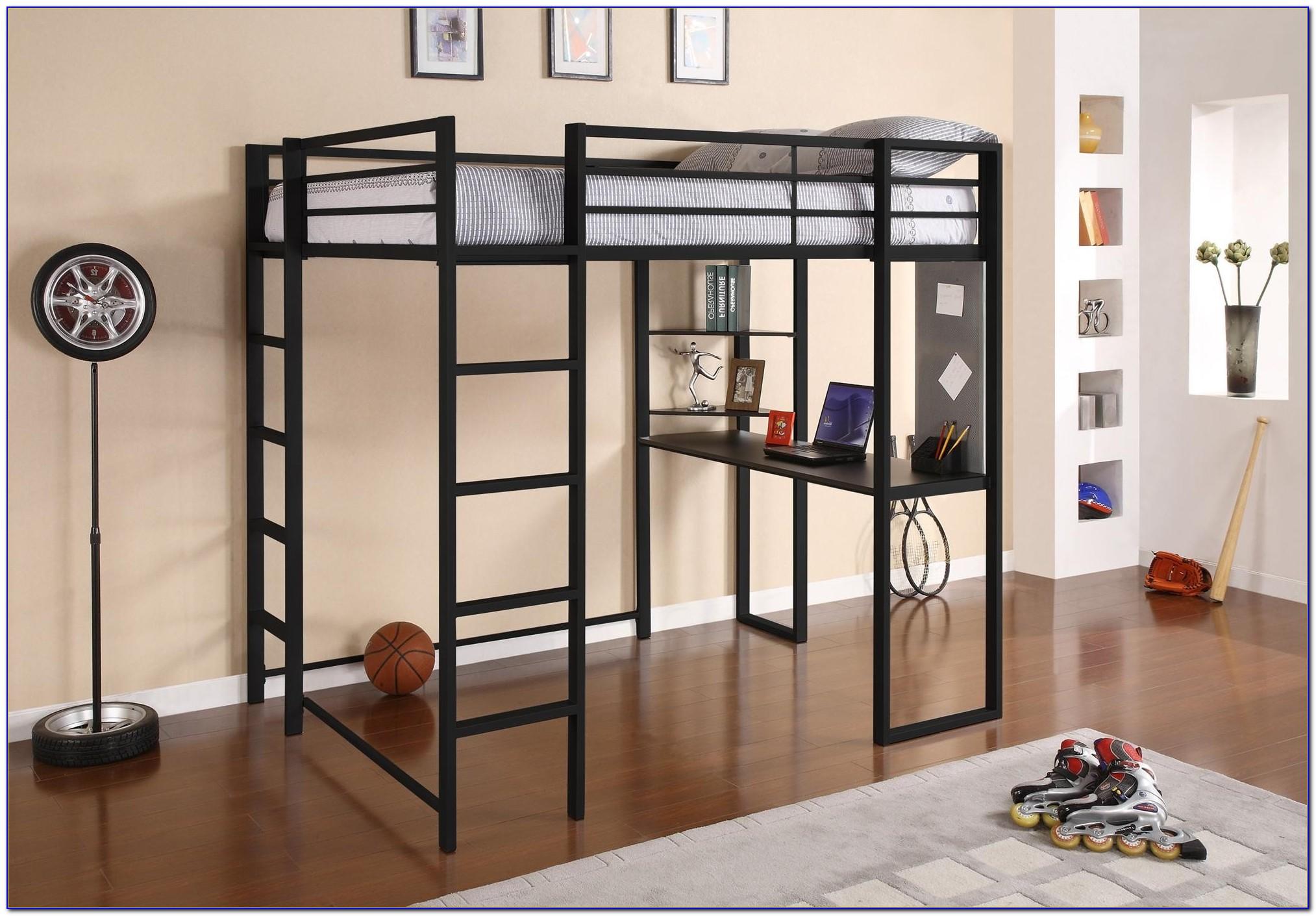 Queen Size Loft Bed Frame Metal