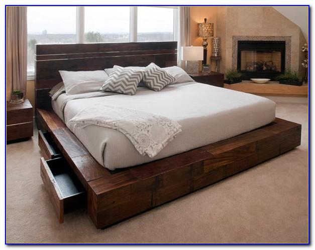Reclaimed Wood Platform Bed Los Angeles