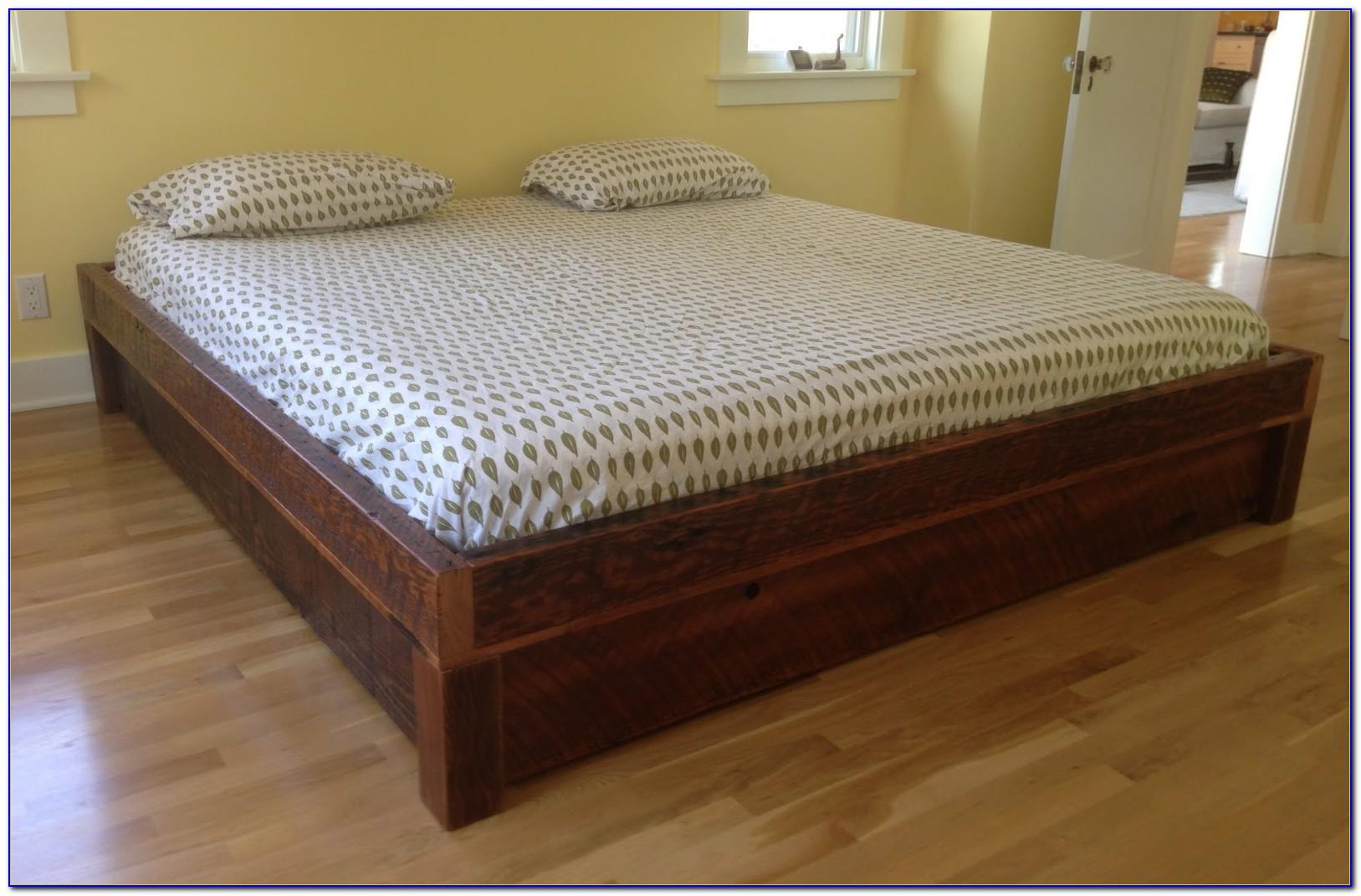Reclaimed Wood Platform Bed Queen