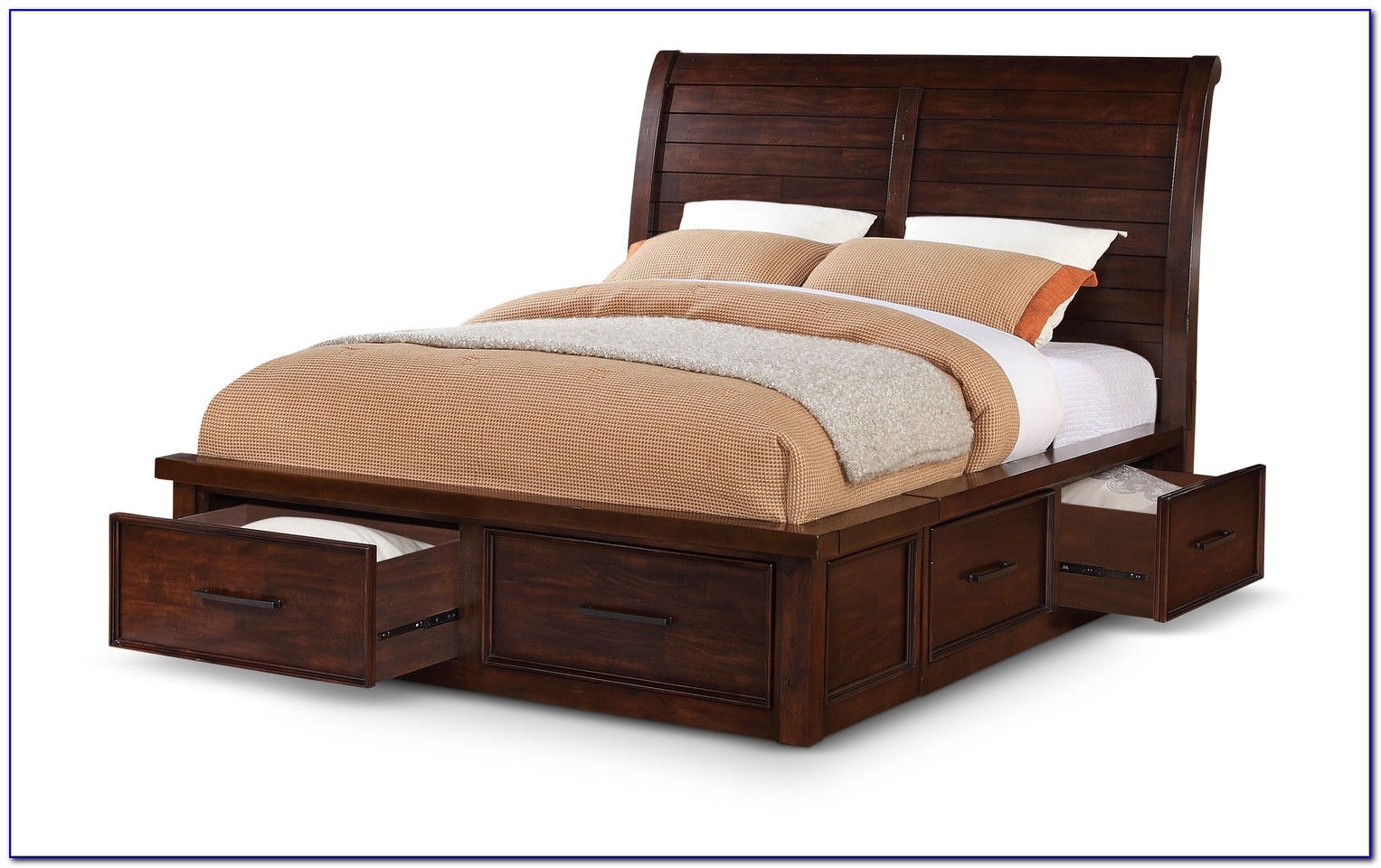 Sleigh Bed King Single