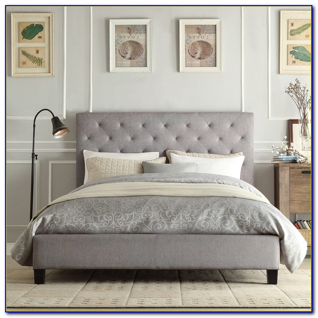 Tufted Headboard Platform Bed