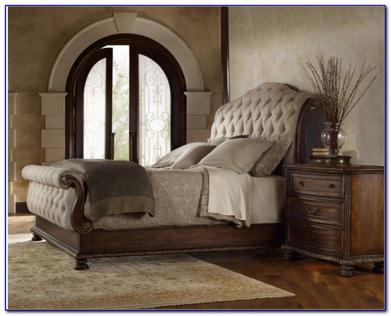 Tufted King Bed Gray