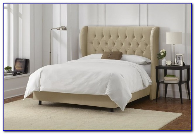 Tufted Wingback Bed Queen