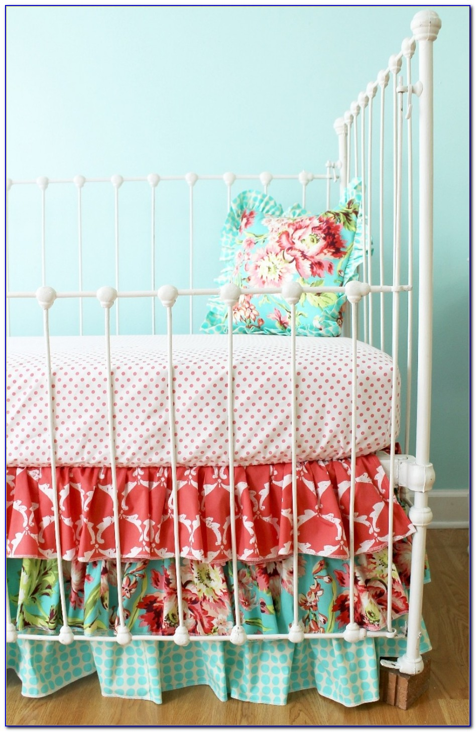Turquoise And Coral Bedspread