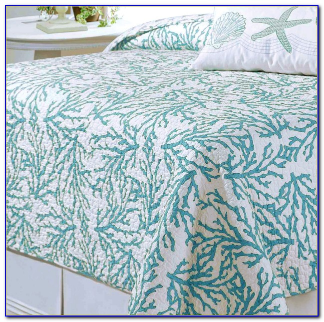 Turquoise Brown And Coral Bedding
