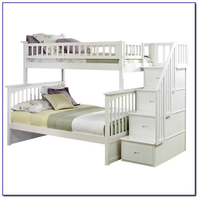 White Bunk Beds With Stairs Ikea