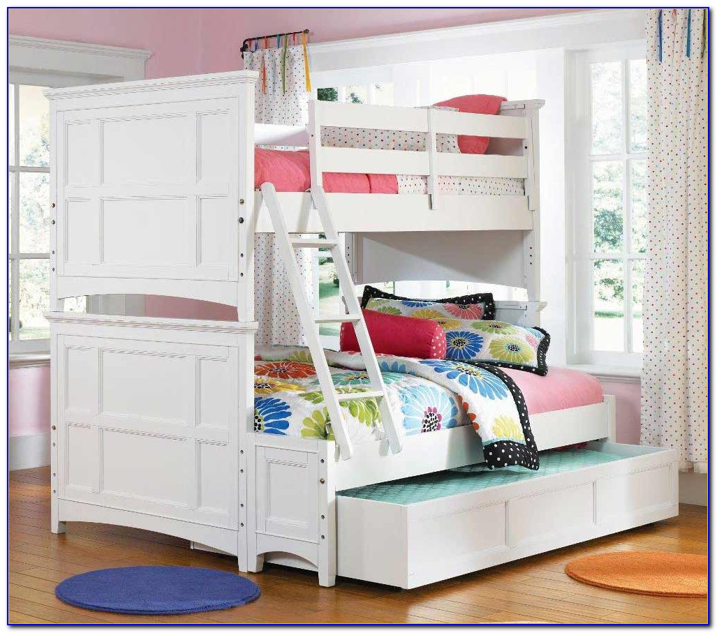 White Bunk Beds With Stairs Twin Over Twin