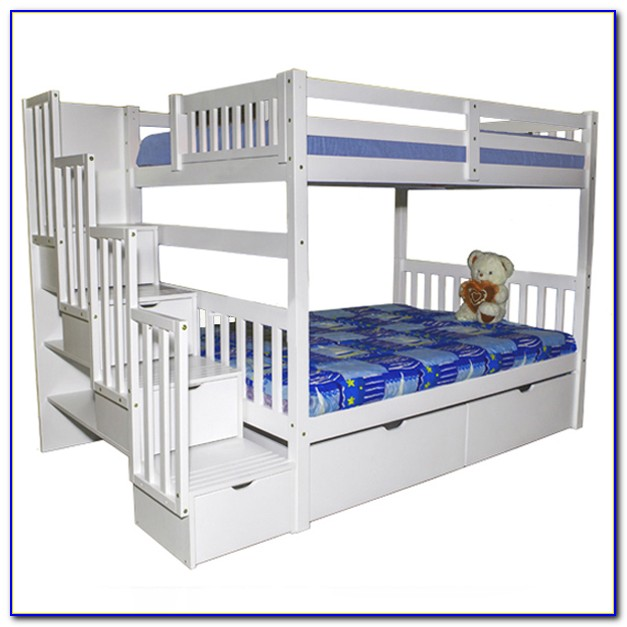 White Bunk Beds With Stairs Uk