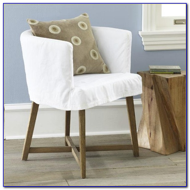 Club Chair Slipcover Tutorial