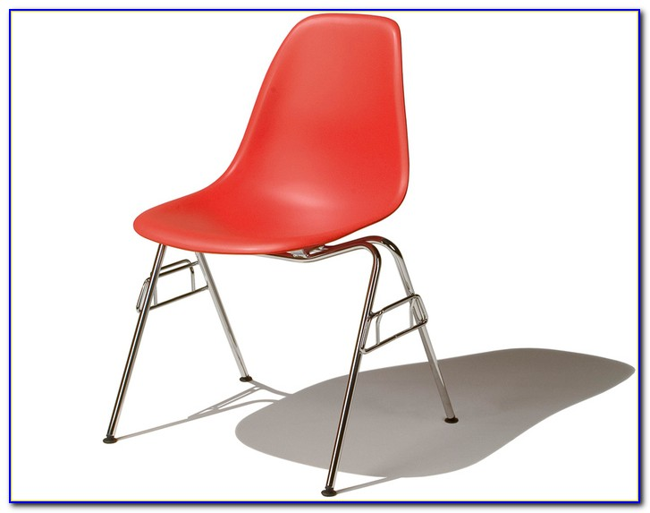 Eames Molded Plastic Chair With Dowel Leg Base