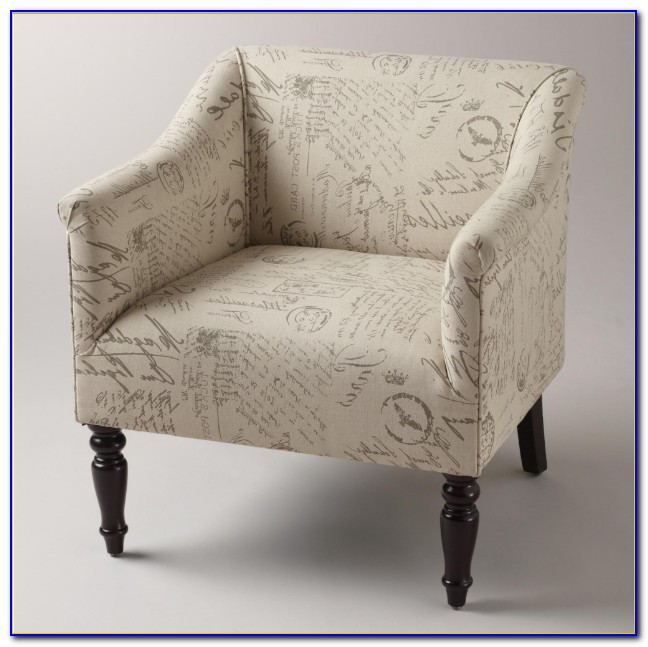 French Script Chair And Ottoman