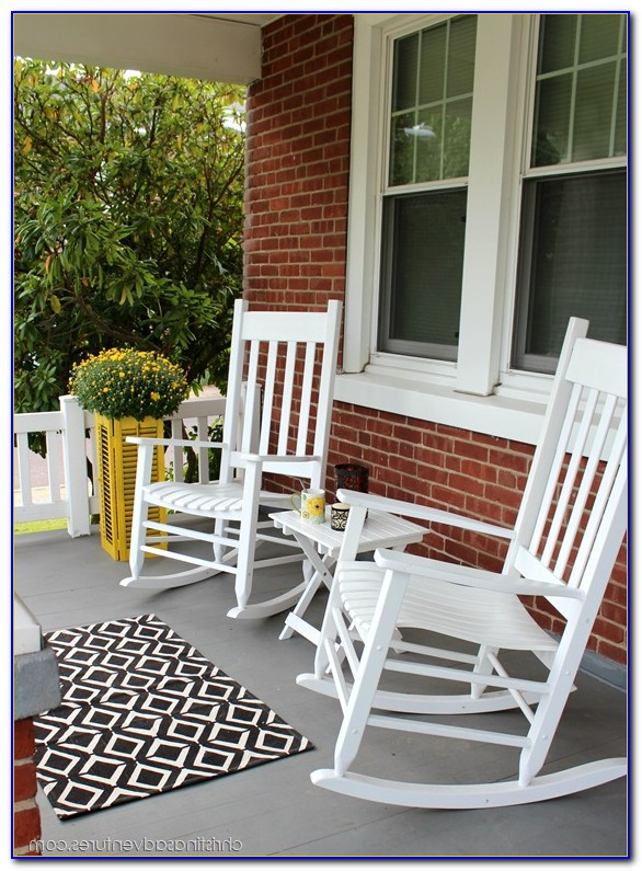 Front Porch Rocking Chairs Black