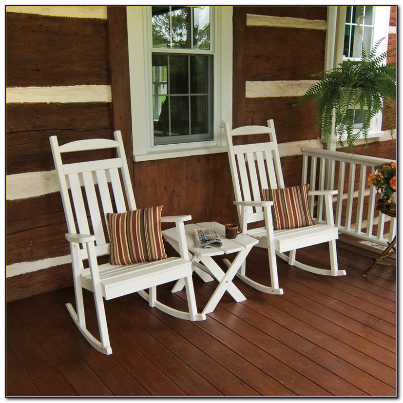 Front Porch Rocking Chairs White
