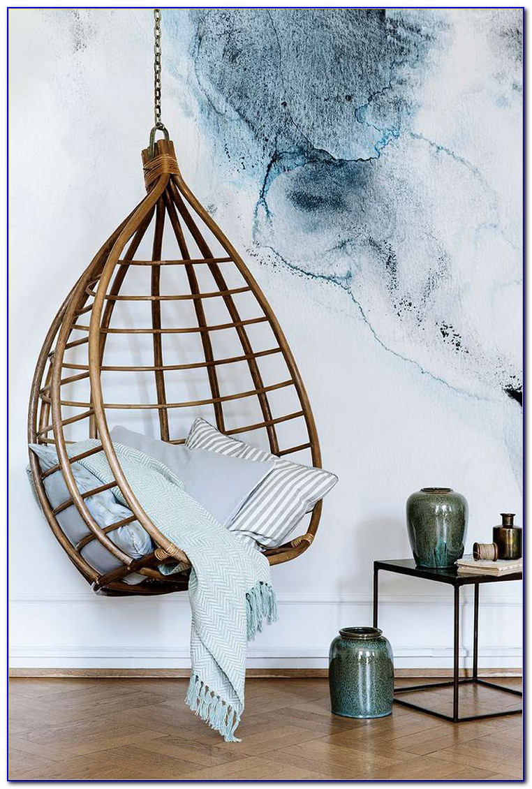 Hanging Rattan Chair Installation
