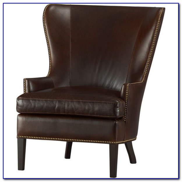 Leather Wingback Chair With Nailhead Trim