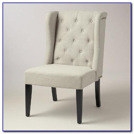 Linen Tufted Wingback Chair