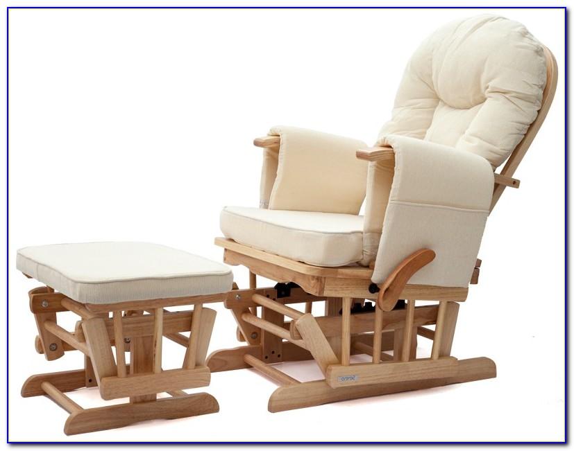 Nursing Rocking Chair With Ottoman