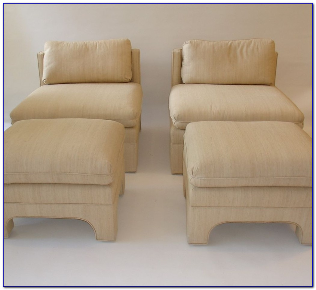 Oversized Chair With Attached Ottoman