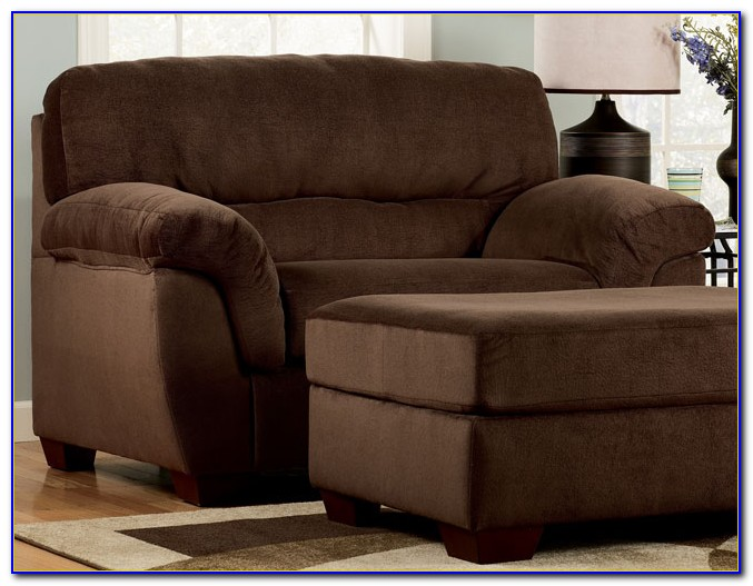 Oversized Chair With Storage Ottoman