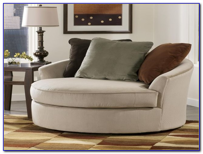 Oversized Round Swivel Chair Slipcover