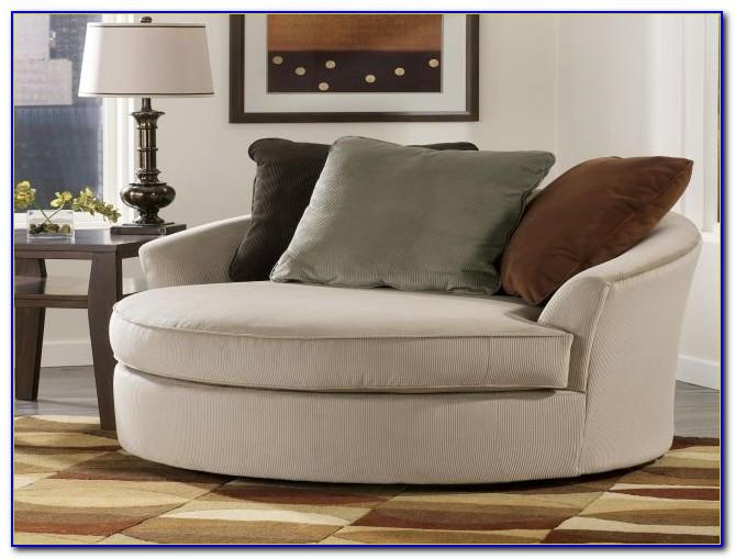 Oversized Round Swivel Chair Slipcover