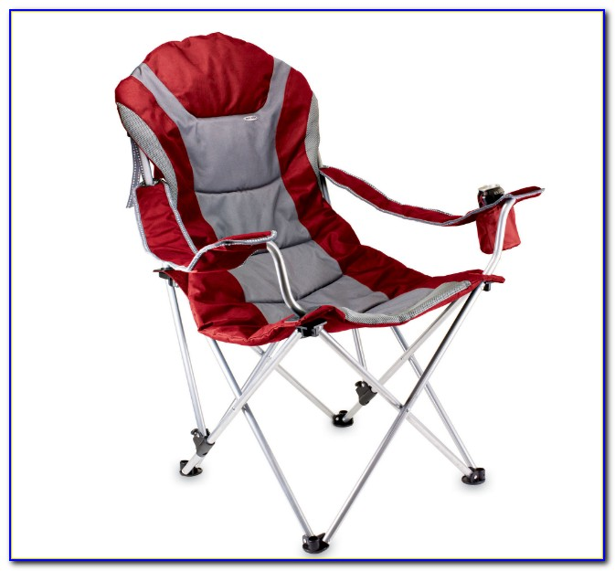 Reclining Camp Chair With Table