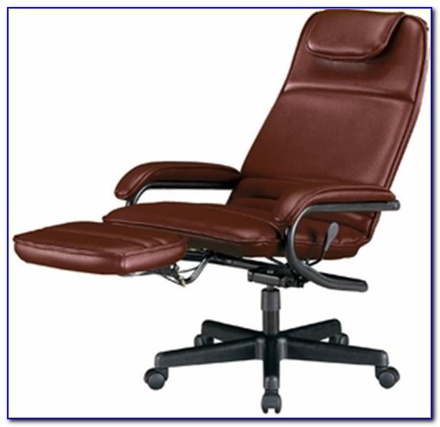 Reclining Office Chair With Ottoman