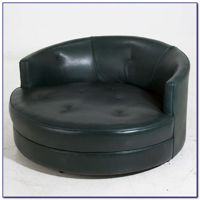 Round Swivel Chair With Cup Holder