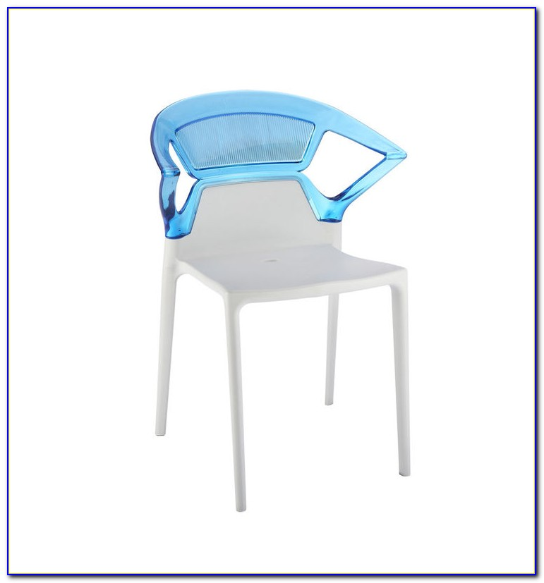 Stackable Outdoor Chairs Blue
