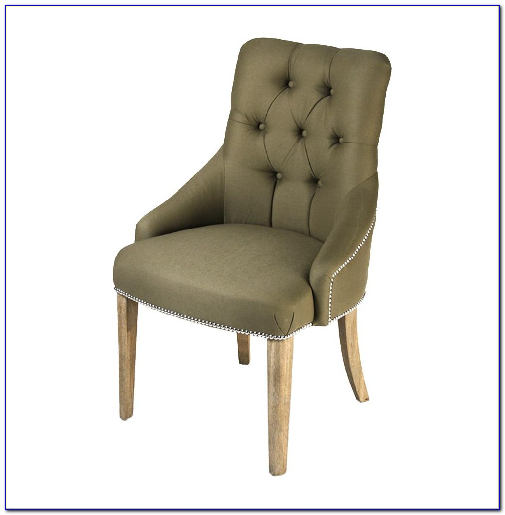 Tufted Dining Chair With Nailheads