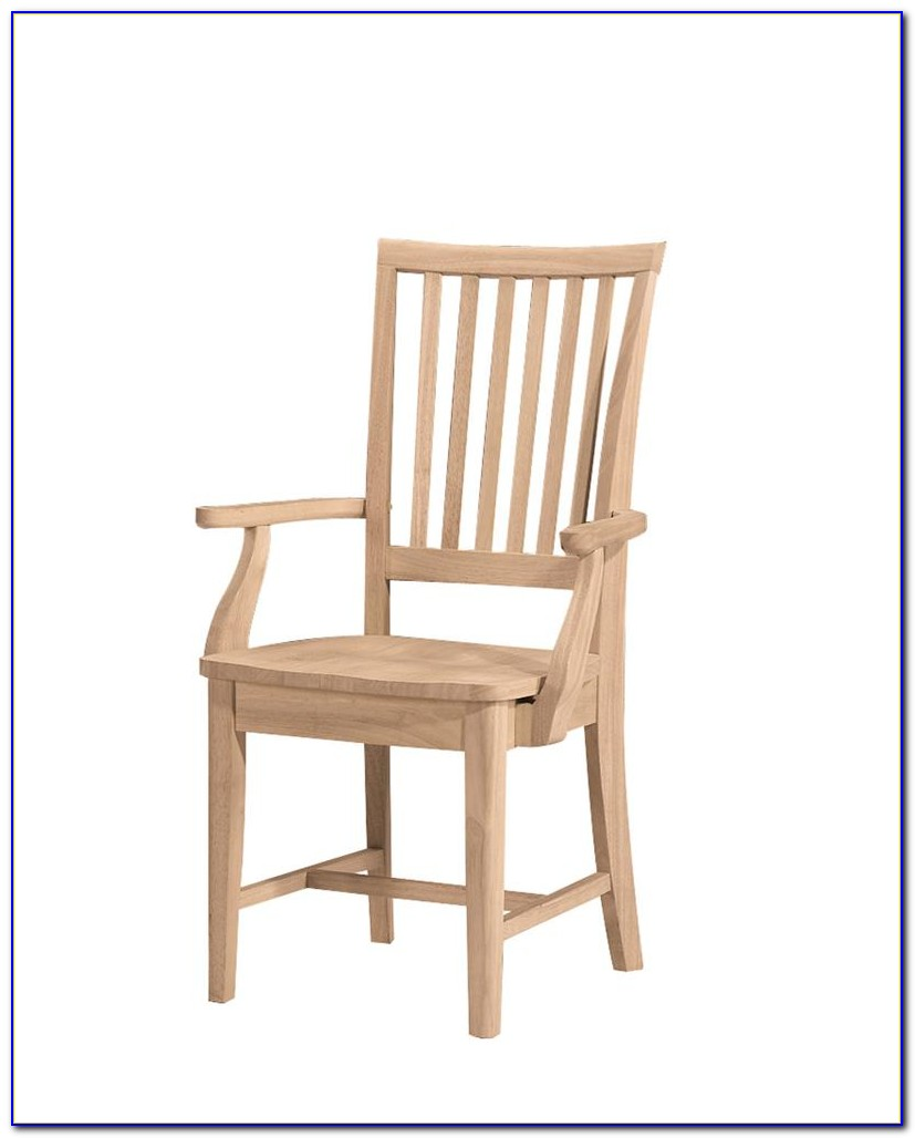 Unfinished Dining Chairs With Arms