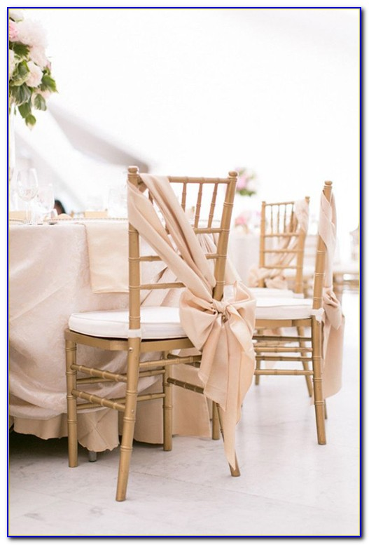 Wedding Chair Sashes Diy