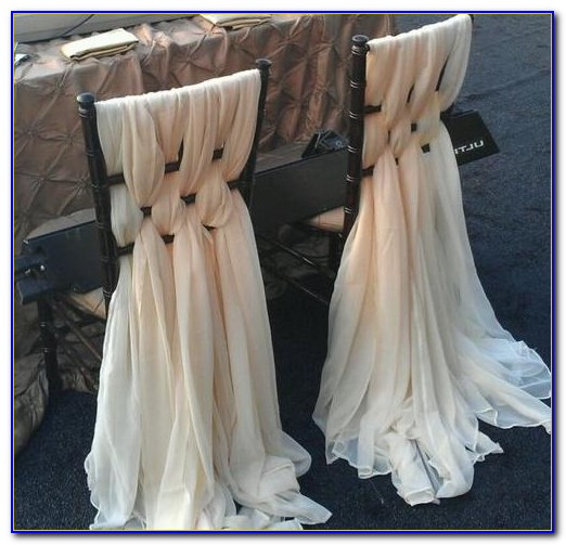 Wedding Chair Sashes Ideas