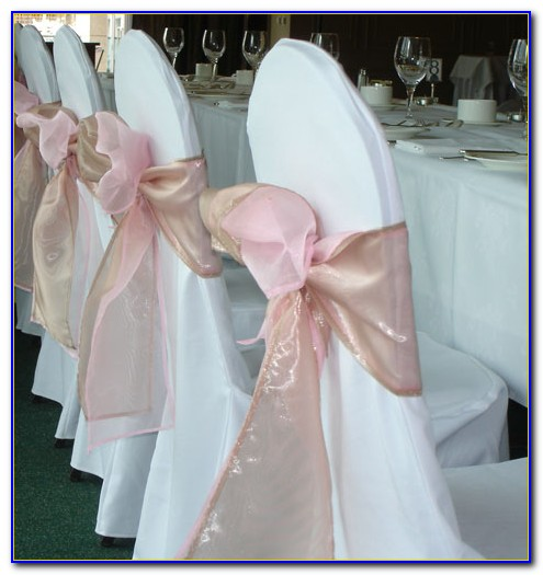 Wedding Chair Sashes Without Chair Covers