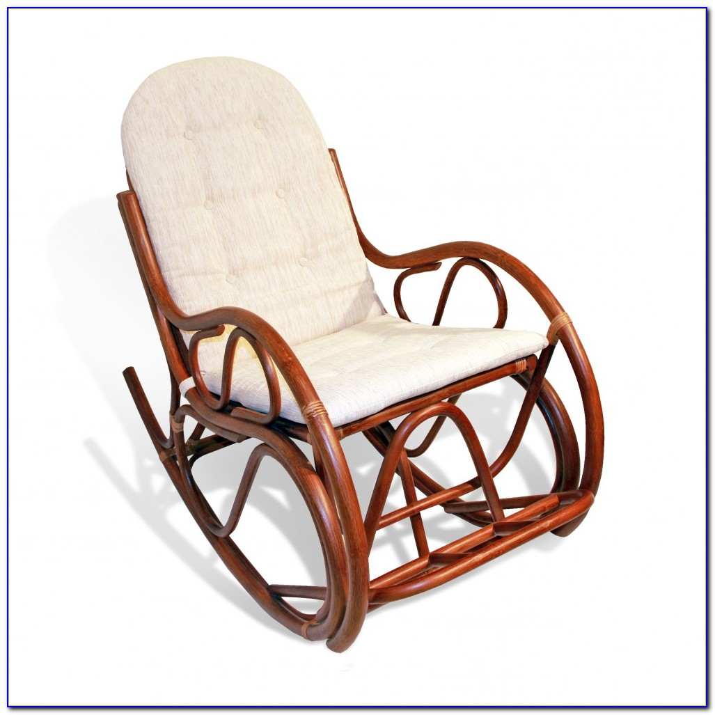 Wicker Rocking Chair White