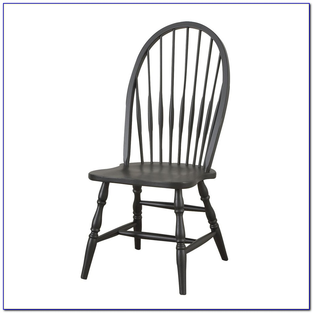 Windsor Dining Chairs Black