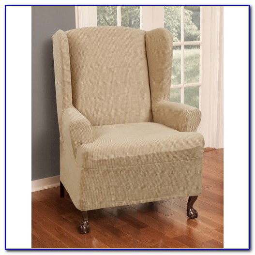 Wing Chair Slipcover Square Cushion